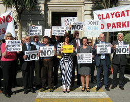 On-Street Pay & Display protest outside County Hall
