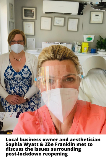 Zöe visits local aesthetician Sophia Wyatt to discuss post-lockdown reopening