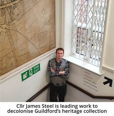 Cllr James Steel at Guildford Museum
