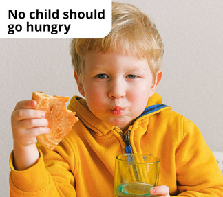 No Child Hungry - Boy in Yellow Jumper