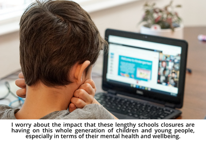 Boy at computer with quote (Thomas Parker via Unsplash)
