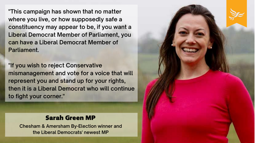 Sarah Green MP Quote