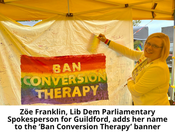 ZF adding name to Ban Conversion Therapy banner